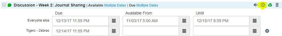 adjust due dates for one item