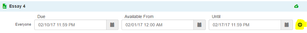 adding unique dates to a section