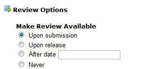 make review available options