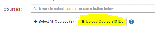 upload course SIS IDs