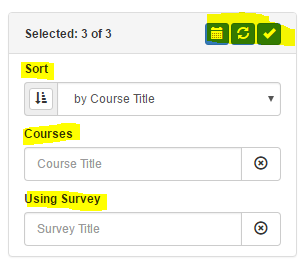 filtering course evaluations