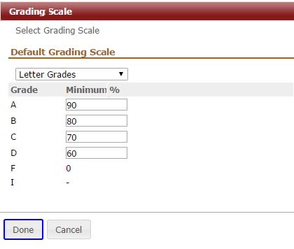 set grading scale