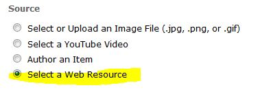 Select web resource