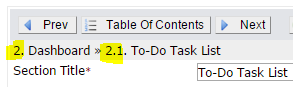 show numbering in authoring
