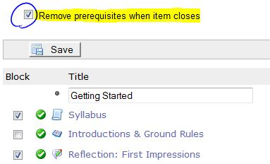 remove prerequisite on closing