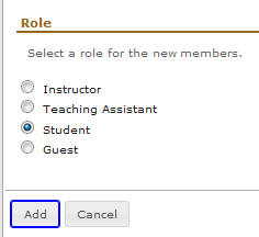 Select role
