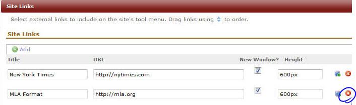 Delete a Site Link